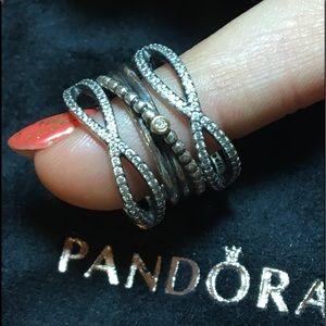 Genuine Pandora Set of 3 Rings